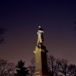Civil War Monument Winter's Night - Orion