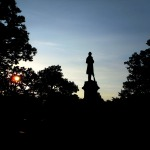 Civil War Monument at Sunset