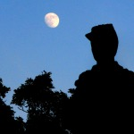 Moonrise Over Civil War Monument